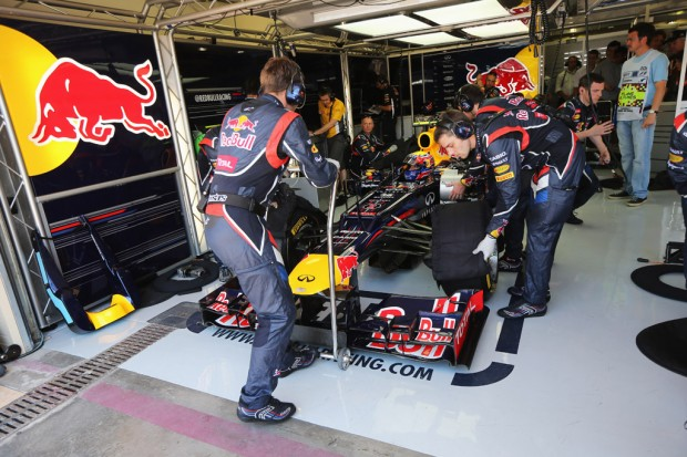 Red Bull pits - European Grand Prix