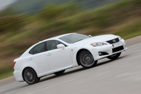 Sideways Lexus IS-F