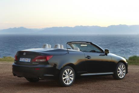 Lexus IS250C with the roof down