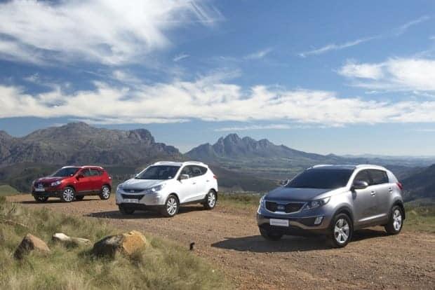 Kia Sportage, Hyundai ix35 and Nissan Qashqai